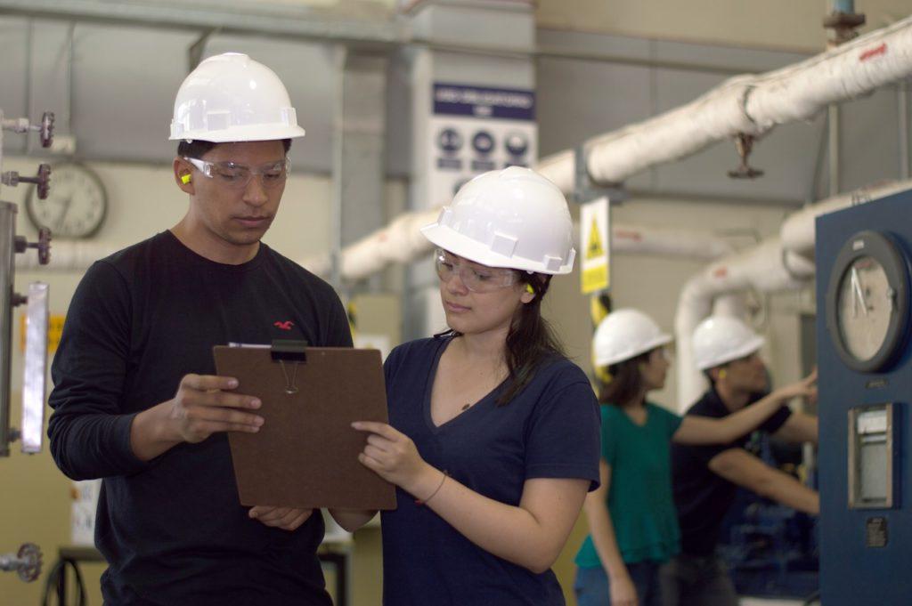 Industrial Engineer Working